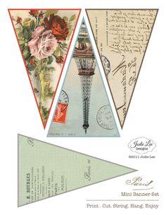 Jodie Lee Designs: FREEBIES Paris Bunting Template