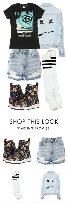 """First day outfit"" by emo-god ❤ liked on Polyvore featuring Dr. Martens, Topshop and Boohoo"