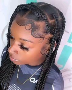 Big Box Braids Hairstyles, Protective Hairstyles For Natural Hair, Black Girl Braided Hairstyles, Girls Natural Hairstyles, Black Girl Braids, Baddie Hairstyles, Braids For Black Hair, Vintage Hairstyles, Hairdos