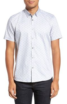 Ted Baker London 'Jamshor' Modern Trim Fit Short Sleeve Sport Shirt available at #Nordstrom