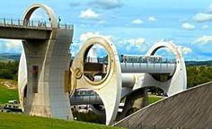 Falkirk Wheel in Scotland (Tomzoy / Dreamstime.com)  Falkirk, Scotland    Imagine boarding an elevator...in a boat. It's not as crazy as it sounds. The Falkirk Wheel is exactly that—a lift for boats—and it serves a very practical purpose. It opened in 2002, the long-awaited answer to the question of how to link two canals whose inconvenient, lock-ridden connection had been severed nearly 70 years earlier. Not surprisingly, the lift has become a
