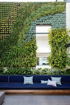 Just a hint of pattern in this gorgeous vertical garden.