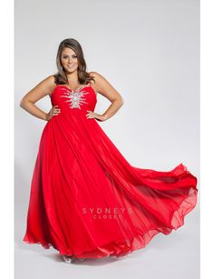 Chiffon gown with spaghetti straps and starburst b | Sonsi