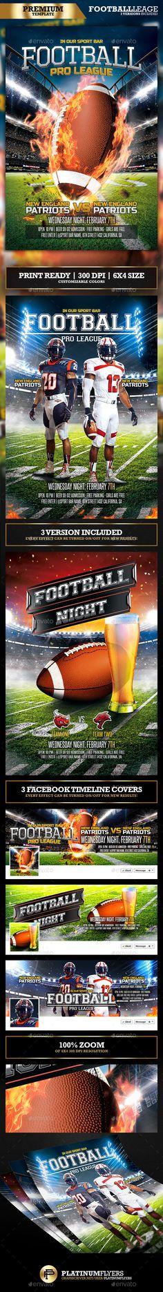 American Football Flyer / Football League - Sports Events