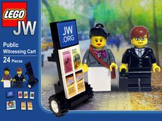 Public Witnessing Cart Lego Set by SketchBuch on Etsy for Ty Legos, Caleb Et Sophia, Jw Meme, Family Worship Night, Public Witnessing, Pioneer School, Jw Humor, Pioneer Gifts, Jw Gifts