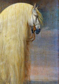 animals-in-art:  Pauwels van Hillegaert (Dutch, 1596–1640) - Prins Maurits gezeten op de witte strijdhengst hem geschonken na de overwinning bij de Slag bij Nieuwpoort (1633-35)