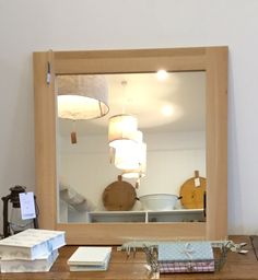 Raw oak mirror