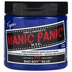 ik heb een keer allemaal blauwe plukjes in mijn haar geverft met deze verf.