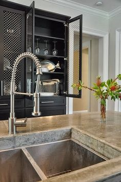 South Shore Decorating Blog: Tuesday Eye Candy Like the black and the cabinet doors.