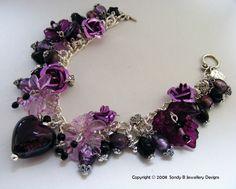 Beautiful Goth Lolita Charm Bracelet