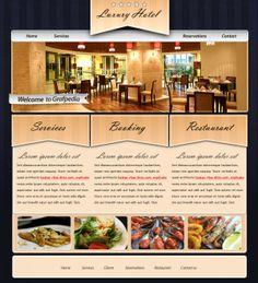 Design an elegant rustic layout for hotels or restaurants