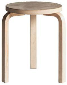 Artek Alvar Aalto Stool 60 - Three Legged Stool - Birch Veneer ...