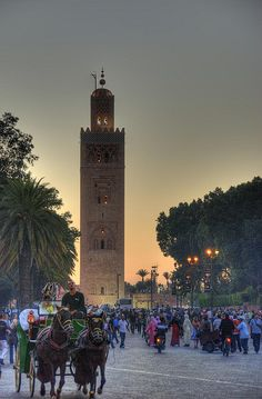 Beautiful Koutoubia Mosque in Marrakesh, Morocco by LavenderIllusion on Flickr #marrakesh #travel