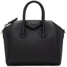 Givenchy Black Mini Antigona Bag (5.305 BRL) ❤ liked on Polyvore featuring bags, handbags, black, mini purse, studded leather handbags, genuine leather purse, studded purse and genuine leather handbags
