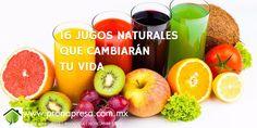16 jugos naturales que cambiarán tu vida