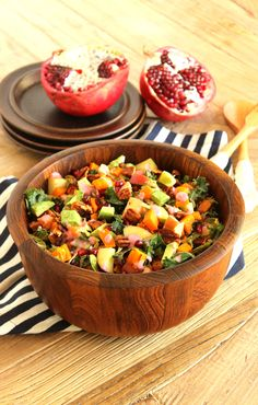 Harvest Chopped Salad with Creamy Cranberry-Shallot Dressing