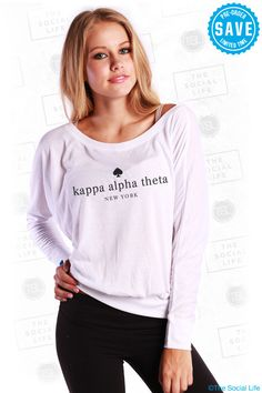 Kappa Alpha Theta Theta NY Long Sleeve Dolman available until 10/27 #KappaAlphaTheta #Theta #sorority #GroupBuy #TSL #TheSocialLife