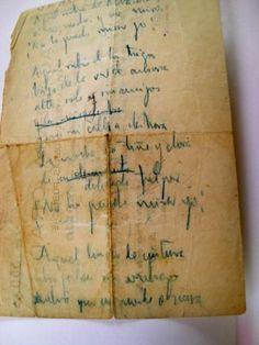 Reverso del recibo de la academia Orad, donde Lorca escribió el romance.