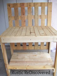 Rustic ReDiscovered: Pallet Potting Table- My First Build !