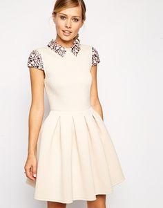 ASOS Embellished Collar Prom Dress