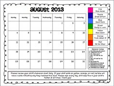 calendar for behavior chart | Click the pic below to snag your free clip chart calendars: