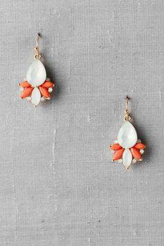 Lancy Jeweled Drop Earrings $14