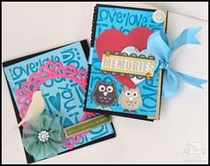 Itsy Bitsy - The Blog place: Ink Embossed Accordion Album