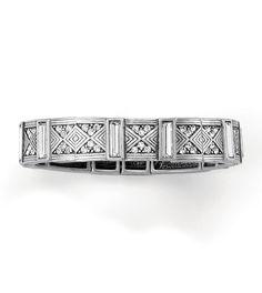 DECO LUXE, stretch matte silver bracelet #liasophia #lastchance