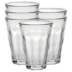 Duralex - Picardie 12 5/8 oz Glass set of 6, Clear