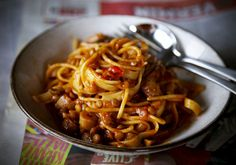 Vegetarian Spaghetti Bolognese an effortless vegetarian pasta dish that is super filling and tasty.