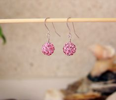 Pink 925 Sterling Silver Crystals Shamballa earrings   http://stores.ebay.ie/SilverTrend4U?_rdc=1