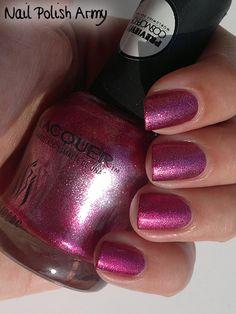 #IBI Beauty 1303 Lock Me Up, bright #pink #foil #nailpolish