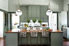 15 Ways with Shiplap: Subtle Green Shiplap Kitchen