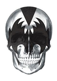 Demon-KISS skull by Pigmento Design