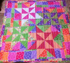 QUILT FOR SALE-#1 OF 2 PICS    Interlocking Stars made it large instead of one 12 inch block. 56x56 Jenn-Alabama