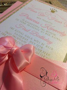 Hear Ye! Hear Ye! A Royal Birthday Invitation Royal Princess Collection First Birthday on Etsy, $4.40