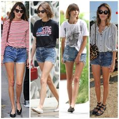 alexa chung high waisted denim shorts - Google Search
