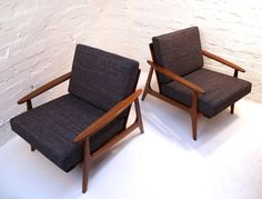 Pair OF Parker Blackwood Rattan Back Lounge Chairs Sydney 1961 Vintage Retro | eBay