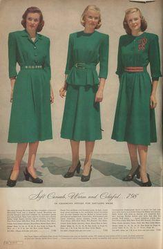 Cataloging Catalogs: Ward's Fall/Winter 1947-1948, Dresses!