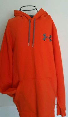 Mens Under Armour XLARGE hoodie Orange #UnderArmour #Hoodie