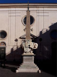 """""""Obelisco della Minerva"""" 1667  Dimension: ?  Piazza della Minerva, Roma"""