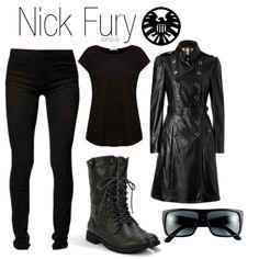 Marvel Comics Nick Fury from The Avengers. Marvel Inspired Outfits, Disney Themed Outfits, Character Inspired Outfits, Disney Bound Outfits, Marvel Fashion, Nerd Fashion, Fandom Fashion, Punk Fashion, Lolita Fashion