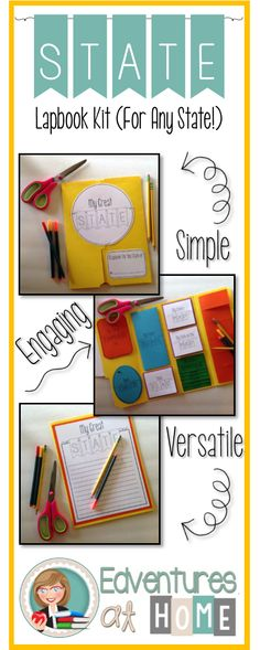 Simple, ready-to-go state study lapbook, that can be used for ANY state! Have each of your students create a lapbook on the same state, or on different states! $