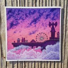 This is An Art  Follow artist @celestial.stingray Hashtag #anartfeature to get your art featured on our Instagram!!! . . . #anart #art #artpop #artlover #artistsoninstagram #artoftheday #visuals #creative #watercolour #sky #space #stars #galaxy