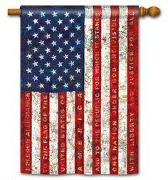 Pledge of Allegiance Patriotic Flag
