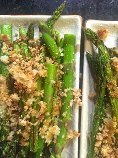 asparagus with Parmesan crumbs :: by radish*rose