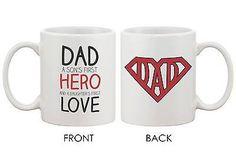Coffee Mug for Dad - Hero & Love - DAD Mug, Father's Day Gift for Dad (MC032)