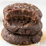 4-Ingredient No Bake Brownie Cookies (Keto, Paleo, Vegan, Sugar Free)- Make these easy no bake cookies in under 5 minutes, to satisfy your sweet tooth the healthy way! Low carb, thick, fudgy and loaded with healthy chocolate! #lowcarbrecipe #nobakecookies #ketodessert #lowcarb #sugarfree #brownie | Recipe on thebigmansworld.com
