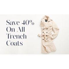 40% OFF Sale on All Trench Coats @ Jacqui E. - Bargain Bro