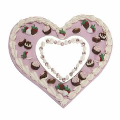 Decorated heart box with Dress It Up Buttons, We LOVE Decoden! www.dressitup.com